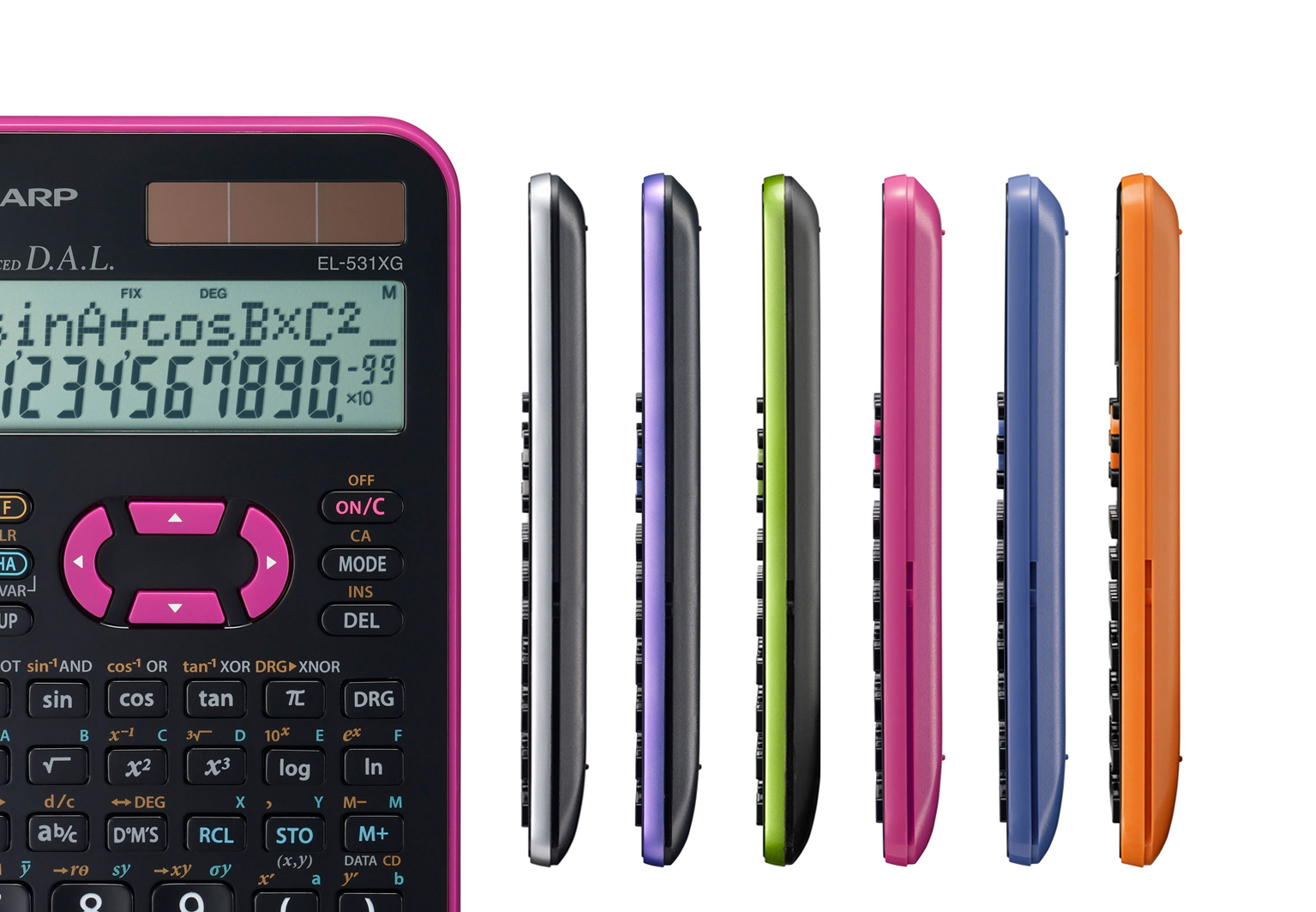 Time for colour: Sharp's school pocket calculator is on its way to ...